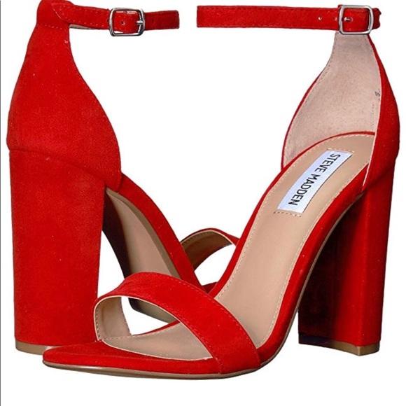 b18d9720cca Red Steve Madden Block heels
